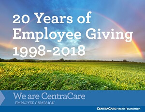 20 years of employee giving from 1998-2018