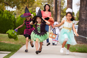 kids dressed in costumes