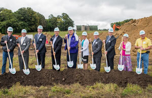 Groundbreaking at construction site