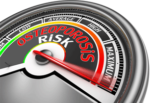 osteoporosis risk meter pointing to maximum