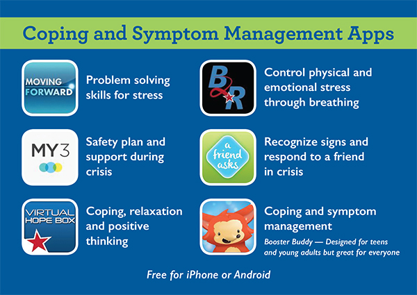 coping and symptom management infographic