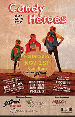 candy buy back for heroes wednesday november 1st 5pm-8pm
