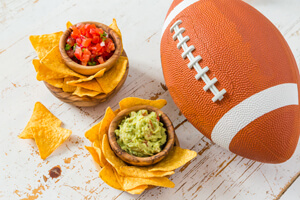 football with dips